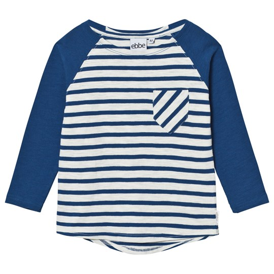 ebbe Kids Darby Raglan Off White/Seaside Blue Stripe Offwhite/Seaside blue stripe