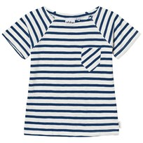 eBBe Kids David T-Shirt Off White/Seaside Blue Stripe Offwhite/Seaside blue stripe