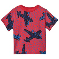 Stella McCartney Kids Aeroplane Print T-shirt Röd 6266