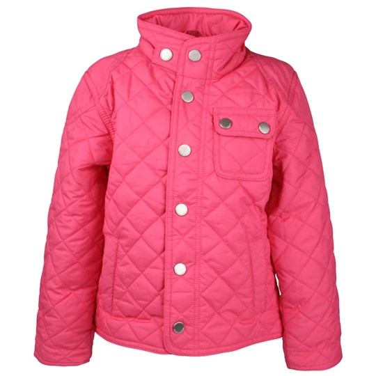 Ralph Lauren Shirt Tail Quilted Jacket Parrot Pink Pink