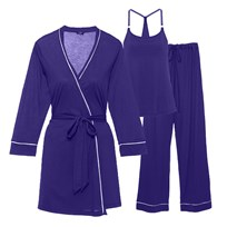 Cosabella Maternity Bella Maternity 3-Piece Pyjama Set Regency Purple/Periwinkle Regency Purple