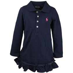 Ralph Lauren LS Polo Dress Newport Navy