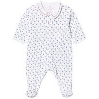 Petit Bateau White Boat Footed Baby Body 07