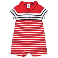Petit Bateau Red White Navy Sailor Collared Romper 31