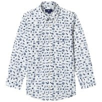 Gant White Multi Flag Print Shirt 110