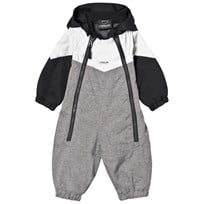 Lindberg Billdal Baby Coverall Grey Melange Sort