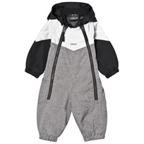 Lindberg Billdal Baby Coverall Grey Melange Black