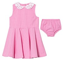 Ralph Lauren Pink Gingham Dress Bloomers 001