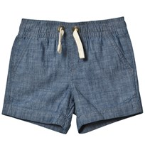 Lands End Blue Pull On Woven Shorts NIGHTSHADOW BLUE CHAMBRAY