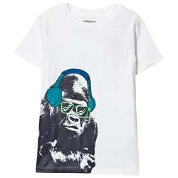Lands' End White Graphic Tee