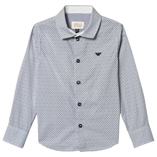 Emporio Armani White All Over Logo Print Shirt 2509