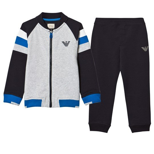 Emporio Armani Navy, Grey and White Branded Tracksuit Set 15K5