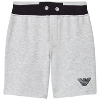 Armani Junior Grey and Navy Branded Sweat Shorts 3928