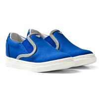 Armani Junior Blue Branded Slip On Shoes Blue