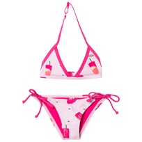 Oneill Pink Oceano Ice Lolly Triangle Bikini RED AOP