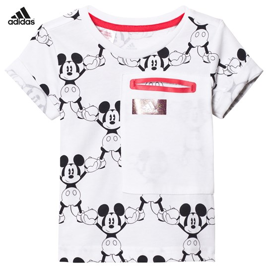 adidas Performance White Micky Mouse Tee White