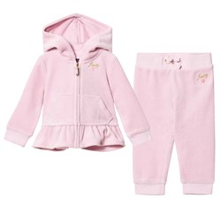 Juicy Couture Pale Pink Embroidered Heart Tracksuit