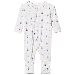 Hust&Claire Baby One Piece With Print Bamboo Zen Blue