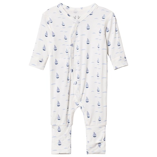 Hust&Claire Baby One Piece With Print Bamboo Zen Blue Zen blue