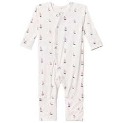 Hust&Claire Baby One-Piece With Print Bamboo Rose Tan