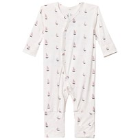 Hust&Claire Baby One-Piece With Print Bamboo Rose Tan Rose Tan