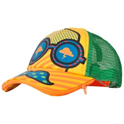 Billybandit Multi Color Print Baseball Cap with Zip Mouth