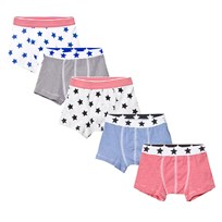 Petit Bateau 5 Pack of Multi Star and Stripe Print Trunks 00