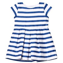 Absorba Blue Glitter and White Stripe Dress 45