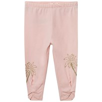 Billieblush Blush Pink Leggings with Glitter Palm and Tie Detail 447