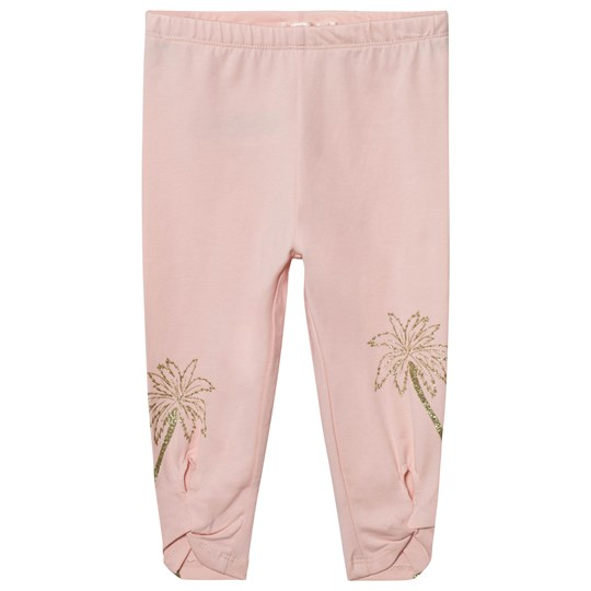 1e02db1dd4395e Billieblush - Blush Pink Leggings with Glitter Palm and Tie Detail ...