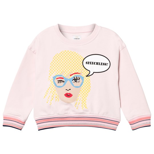 No Added Sugar Pink Speechless Sweatshirt CONTENTED PINK