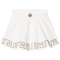 Young Versace White Gold Medusa Detail Skirt 2473