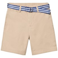 Ralph Lauren Classic Chino Shorts med Bälte i Beige 002