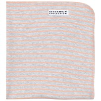 Geggamoja Cuddly Blanket Light Grey Melange/Peach L.grey mel/peach