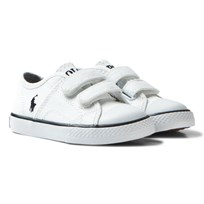 Ralph Lauren White Dyland Velcro Trainers White and Navy