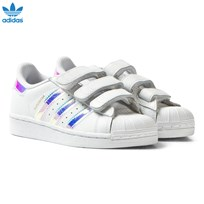 adidas Originals White and Iridescent Kids Superstar Trainers FTWR WHITE