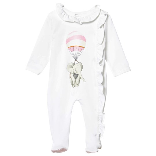 Livly Ruffled Collared Footed Baby Body Pink Elephant Placement Pink Elephant Placement