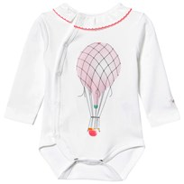 Livly Long Sleeve Overlap Baby Body With Ruffle Hot Air Balloon Hot Air Balloon