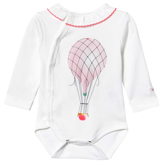 Livly Långärmad Overlap Baby Body med Ruffle Hot Air Balloon Hot Air Balloon
