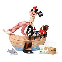 oskar&ellen The Jolly Roger Pirate Ship BROWN