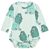 Mini Rodini Lion Baby Body Ljusgrön Light Green