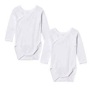 Image of Petit Bateau 2-Pack Body Naissance Noue White 3 mdr (3125358067)
