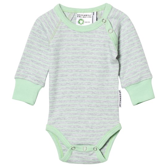 Geggamoja Baby Body Light Grey Melange/Mint L.Grey Mel/Mint