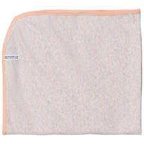 Geggamoja Baby Blanket Light Grey Melange/Peach L.grey mel/peach