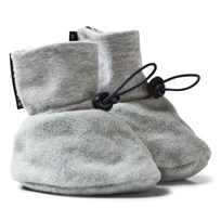 Geggamoja Fleece Booties Grey Melange Grey Melange