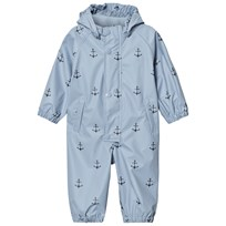 Mini A Ture Reinis Printed Rainsuit Ashley Blue Ashley Blue