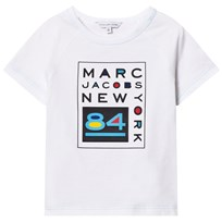 Little Marc Jacobs White Branded NY Tee 10B