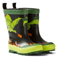 Viking Drage Rain Boots Black/Lime Black/Lime