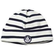 Petit Bateau Hat Offwite And Navy Coquille/Smoking