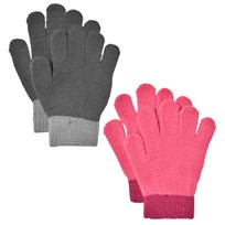 Lindberg Lanna Magic Gloves Black And Cerise Multi